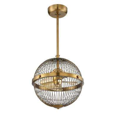 17 in. Warm Brass Ceiling Fan
