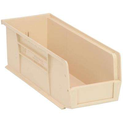 Ultra Series Stack and Hang 6 Gal. Storage Bin in Ivory (12-Pack)