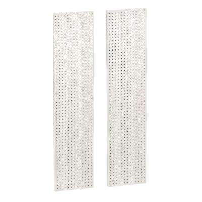 60 in. H x 13.5 in. W Pegboard White Styrene One Sided Panel (2-Pieces per Box)
