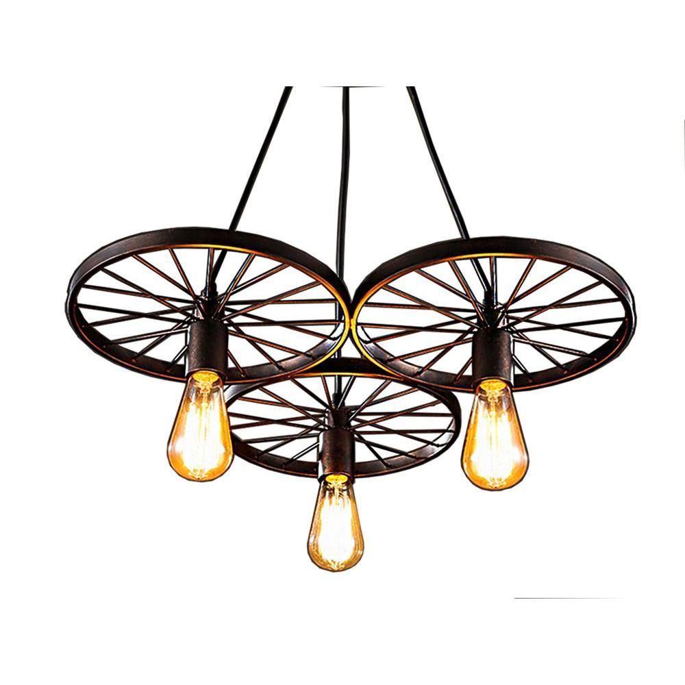 Warehouse of Tiffany Serapiko 10 in. 3-Light Antique Bron...