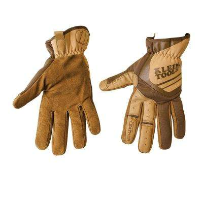 Journeyman Large Brown Leather Utility Gloves