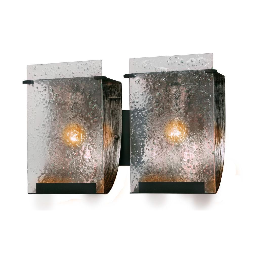 Varaluz Rain 2-Light Rainy Night Bath Vanity Light with Recycled Hand-Pressed Glass