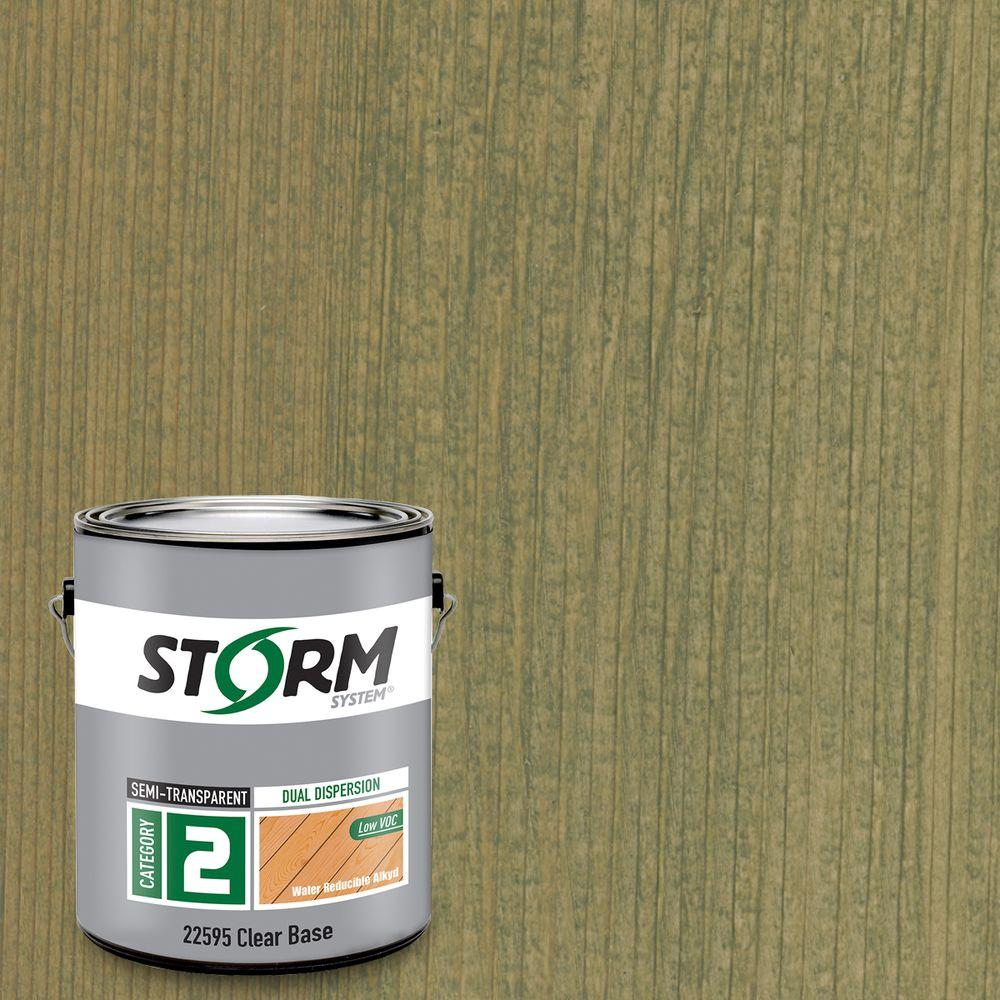 Category 2 1 gal. Estate Green Exterior Semi-Transparent Dual Dispersion Wood