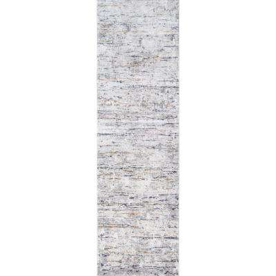 Cannes Grey 2 ft. 3 in. X 7 ft. 6 in. Indoor Runner Rug