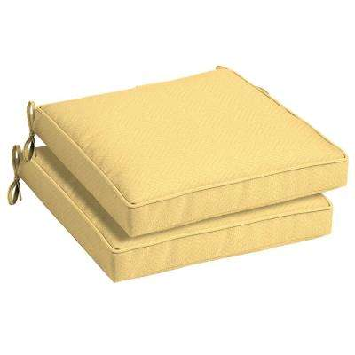 21 x 21 Shirt Texture Outdoor Seat Cushion (2-Pack)