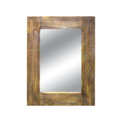 Canal 42 in. x 32 in. Wood Framed Mirror
