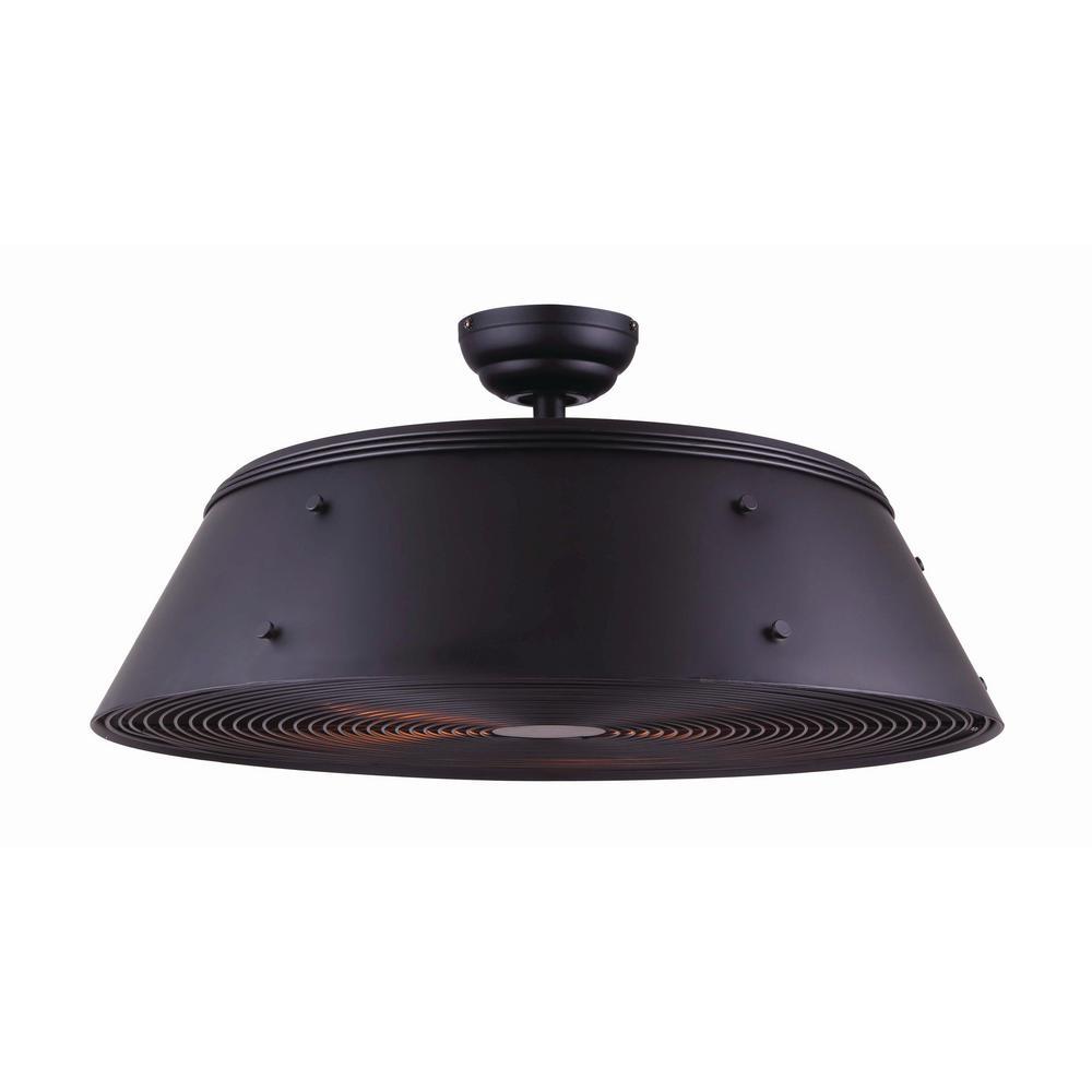 Andi 28 in. Matte Black Ceiling Fan with Light Kit
