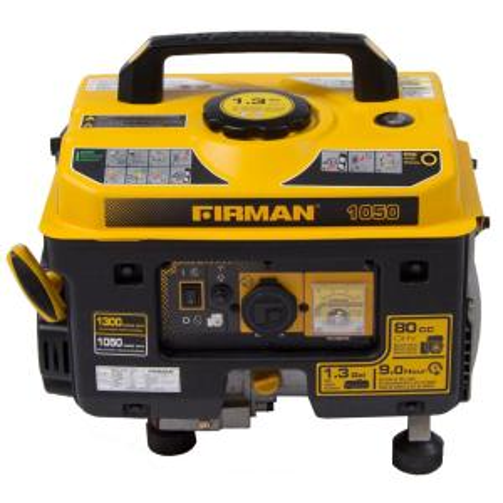 Firman Performance Series 1050 Watt Gasoline Powered Manual Start Portable Generator with Firman Engine by Firman