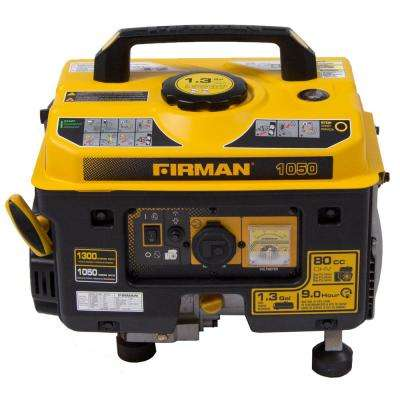 Performance Series 1050 Watt Gasoline Powered Manual Start Portable Generator with Firman Engine