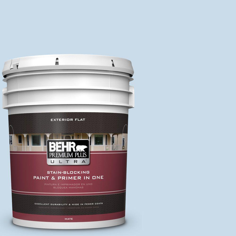 BEHR Premium Plus Ultra 5-gal. #M510-1 Blue Me Away Flat Exterior Paint