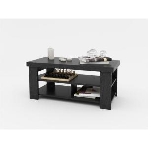 Internet #205323663. Altra Furniture Jensen Black Ebony Ash Storage Coffee  Table