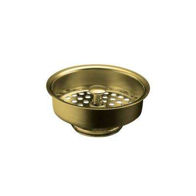 Duo-Strainer 3-1/2 in. Basket Strainer in Vibrant Polished Brass
