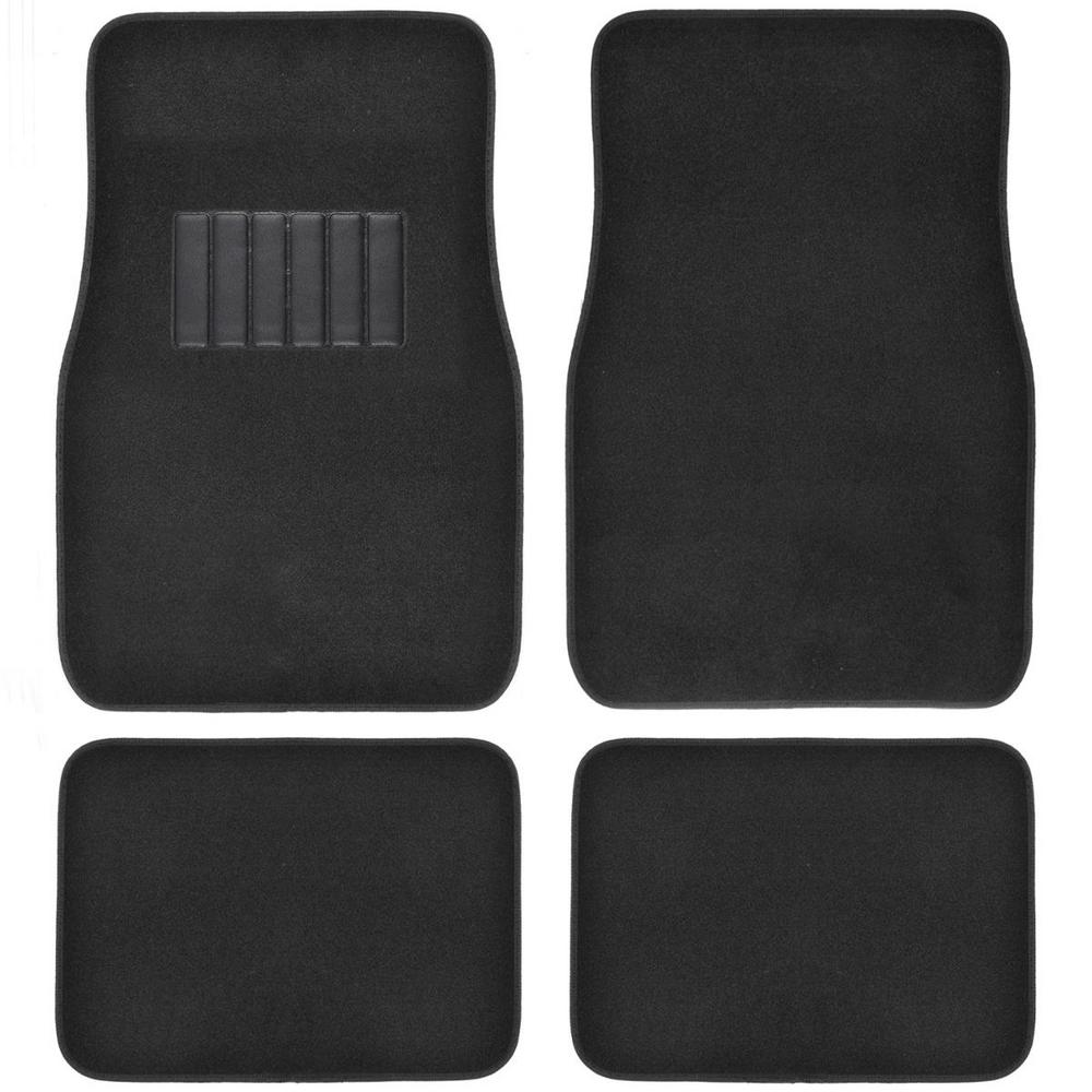 Classic MT-100 Black Carpet With Rubberized Backing 4-Piece Car Floor Mats