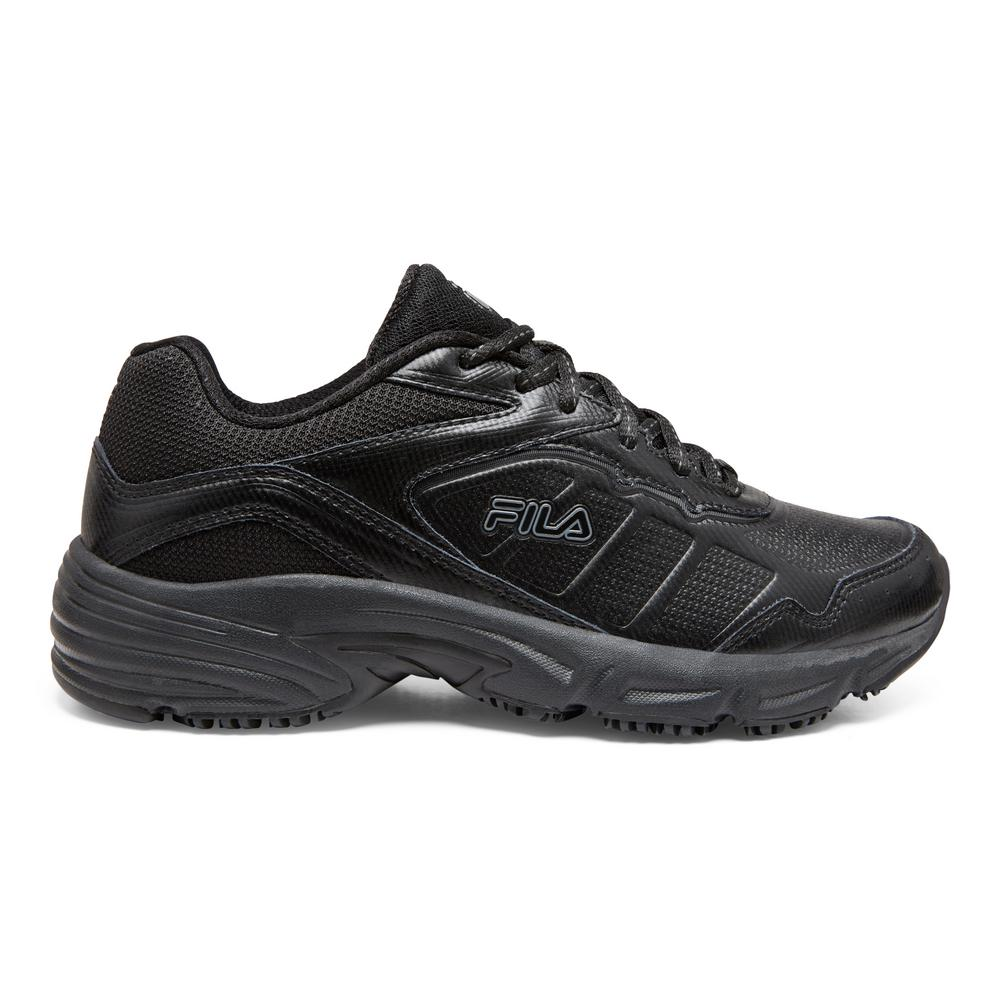Fila Women's Memory Runtronic Slip Resistant Athletic Shoes Soft Toe BLACK Size 9(M)