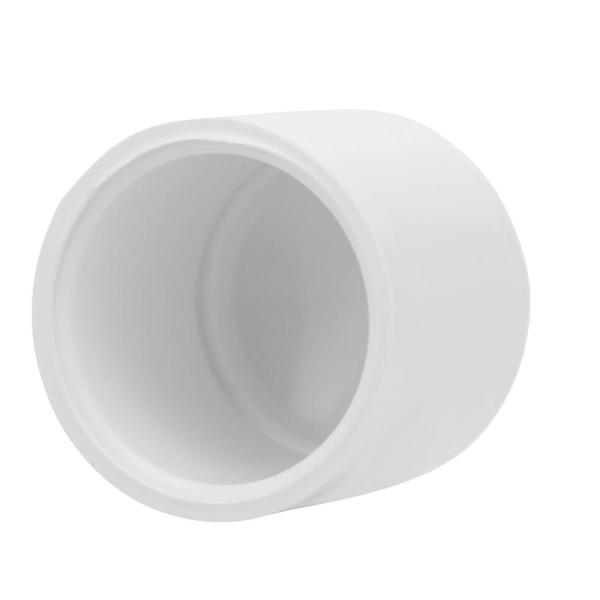 PVC Threaded Plug for Home Sewer Plumbing Water Line 3//4 inch PVC Female Threaded Pipe End Cap SCH 40 3//4 Inch FNPT Female Pipe Thread Plastic Pipe End Cap White