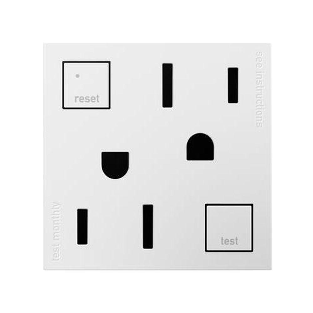 Legrand adorne 15 Amp Tamper-Resistant Duplex GFCI Outlet, White