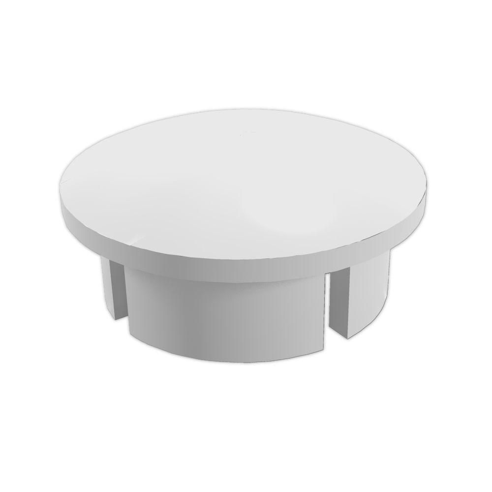 1 in. Furniture Grade PVC Internal Dome Cap in White (10-Pack)