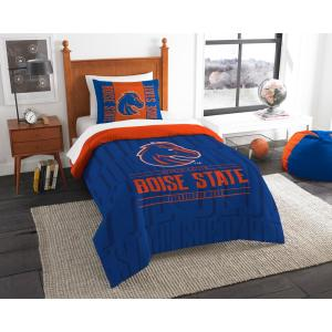 Boise State 2-Piece Modern Take Multi Twin Comforter Set by