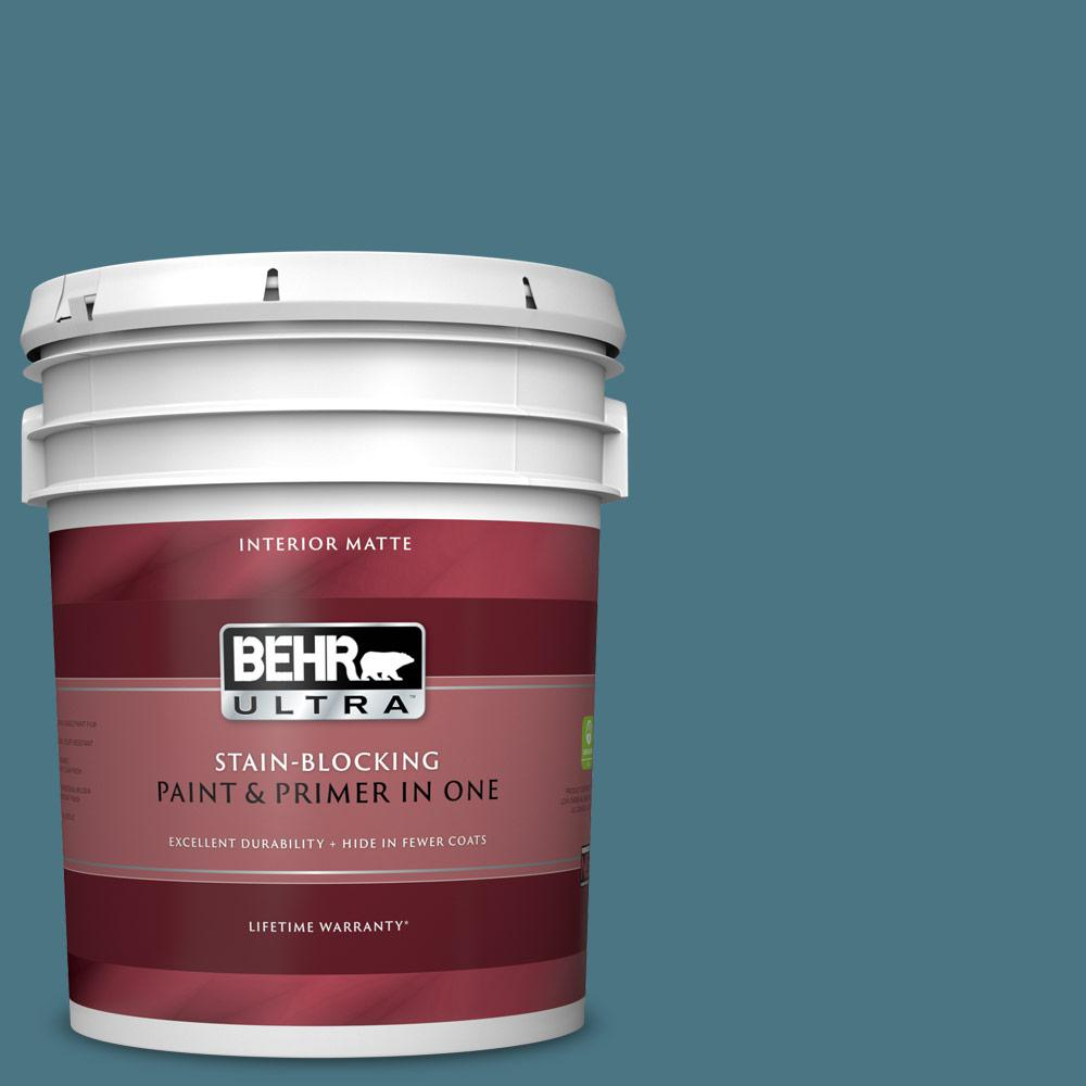 Behr Ultra 5 Gal 530f 6 Heron Matte Interior Paint And Primer In One