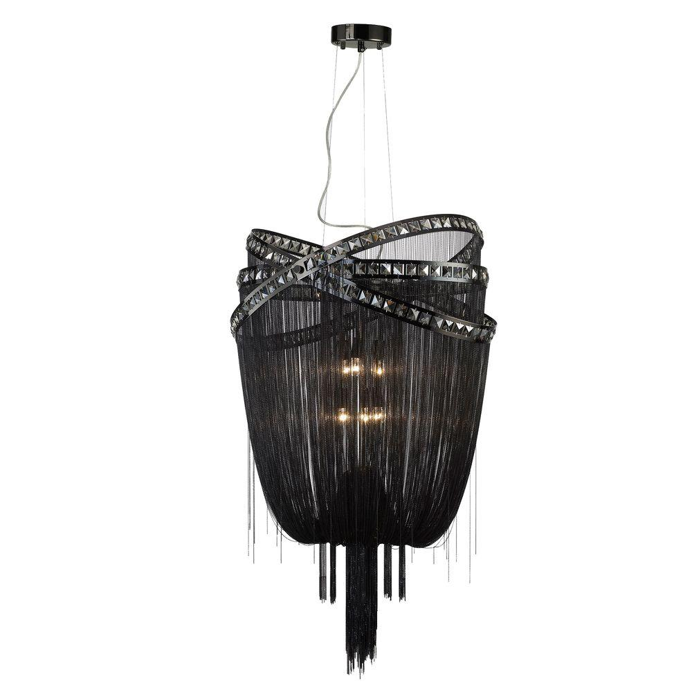 Avenue Lighting 6-Light Black Chrome Incandescent Ceiling Pendant