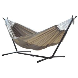 Vivere 9 ft. Combo Sunbrella Hammock with Steel Stand in Sand by Vivere