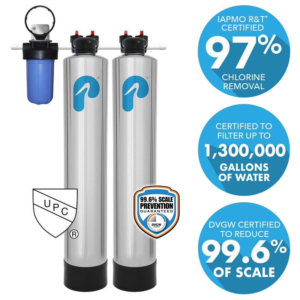 Pelican Water 15 GPM Whole House Water Filtration and NaturSoft Salt-Free Softener System