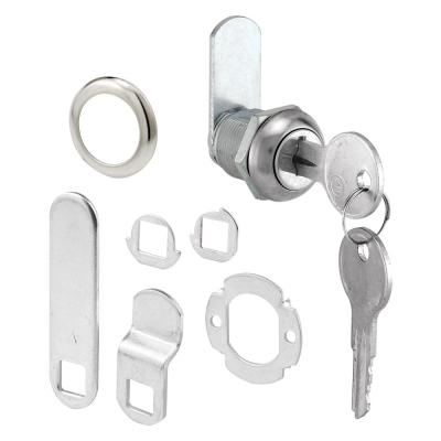 Drawer and Cabinet Lock, 5/8 in., Diecast, Stainless Steel, 5/16 in. Max. Panel