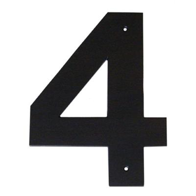 10 inches x 7.38 inches x 0.375 inches White Montague Metal Products MHN-10-7-F-WE1 Floating House Number
