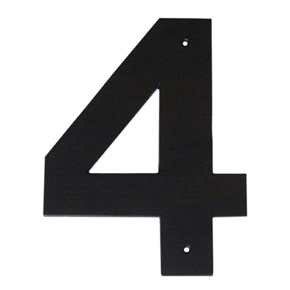 3 in. Helvetica House Number 4