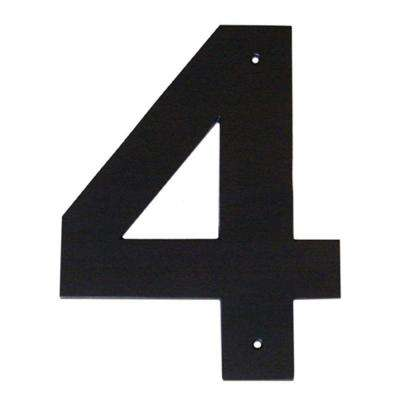 4 in. Helvetica House Number 4