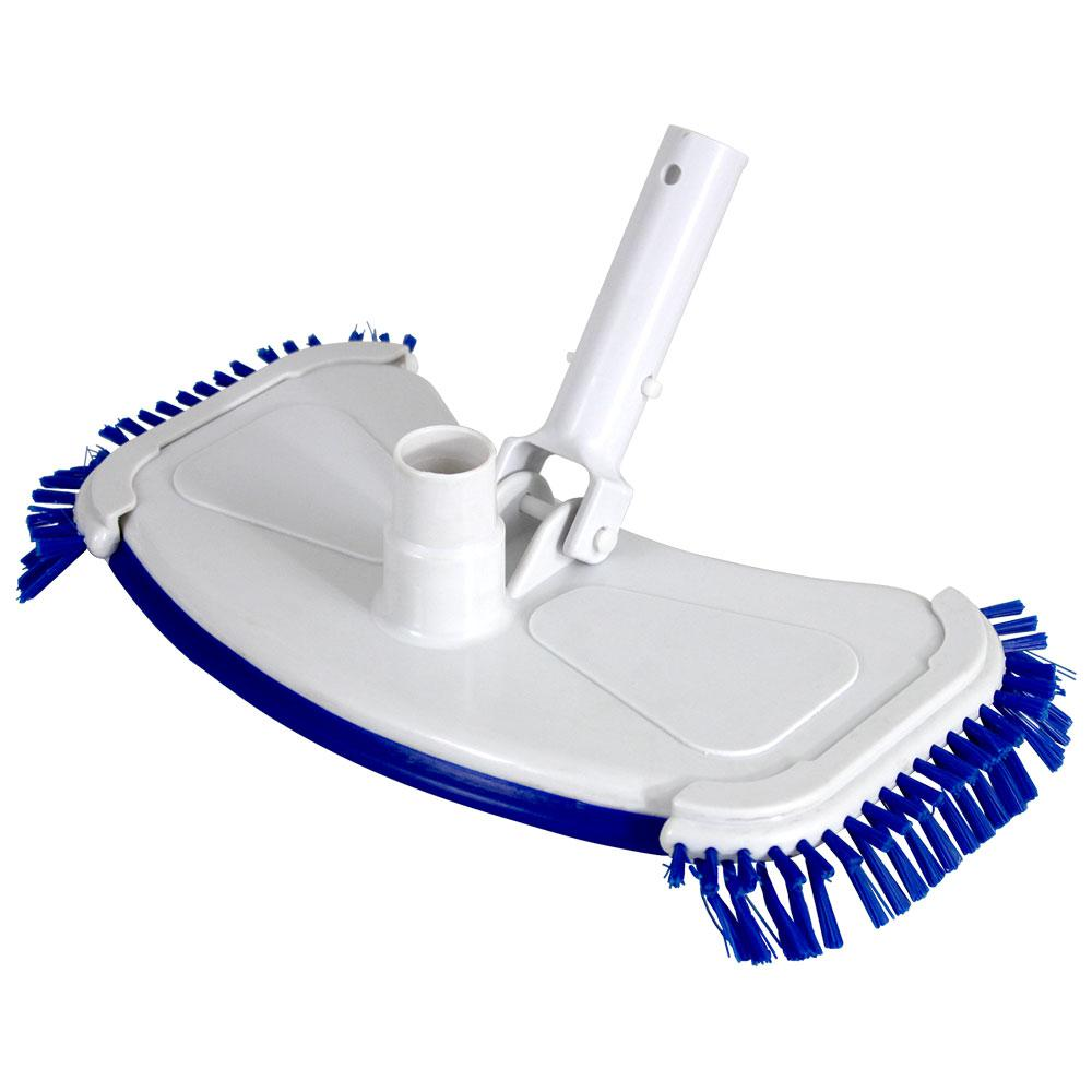 Weighted 18-Inch Pool Vacuum Head with Side Brushes