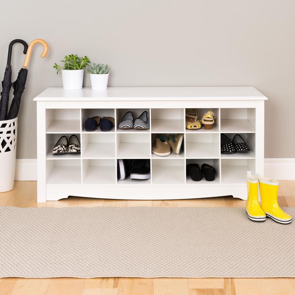 Nice Prepac Monterey Shoe Storage Cubbie Bench Amazing Design