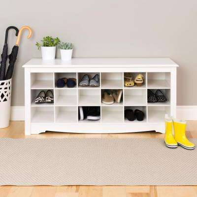 Monterey Shoe Storage Cubbie Bench