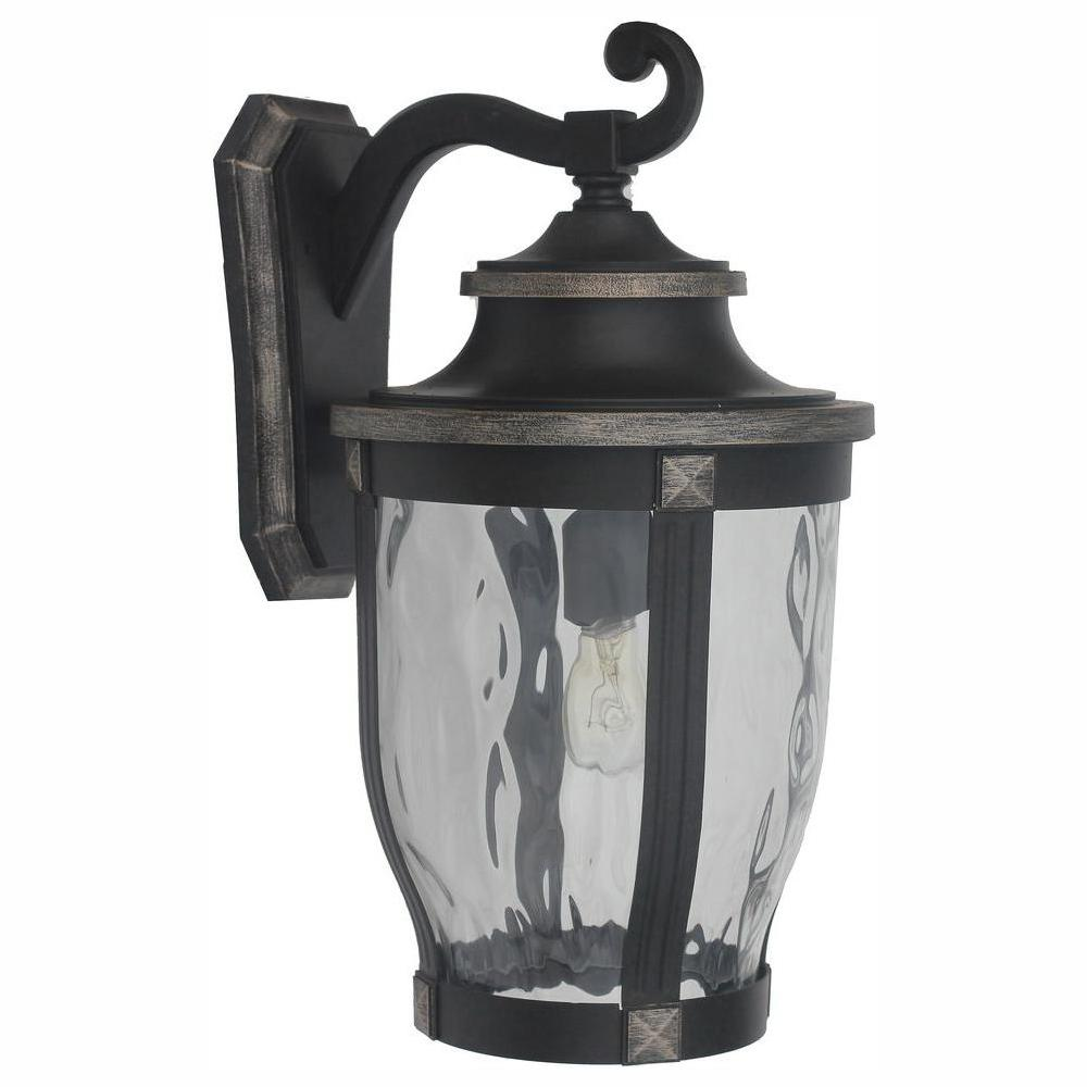 Home Decorators Collection McCarthy 1-Light Bronze Outdoor Wall Lantern Sconce