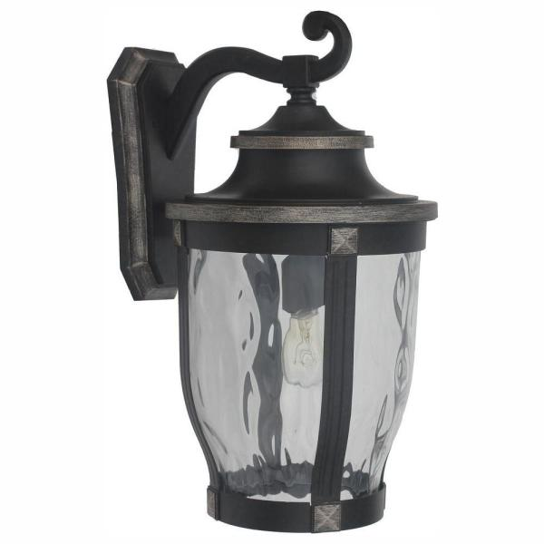 McCarthy 1-Light Bronze Outdoor Wall Lantern Sconce