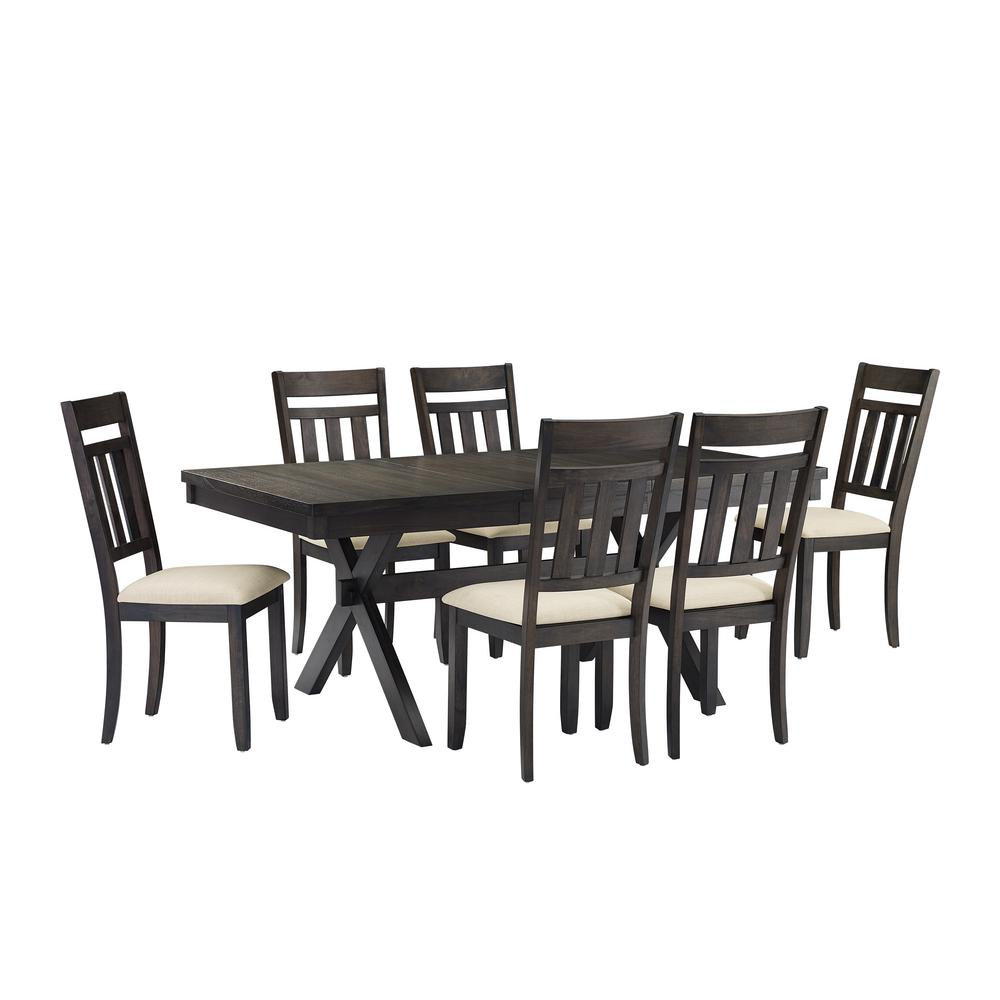 Stupendous Crosley Furniture Hayden 7 Piece Slate Dining Set Ibusinesslaw Wood Chair Design Ideas Ibusinesslaworg