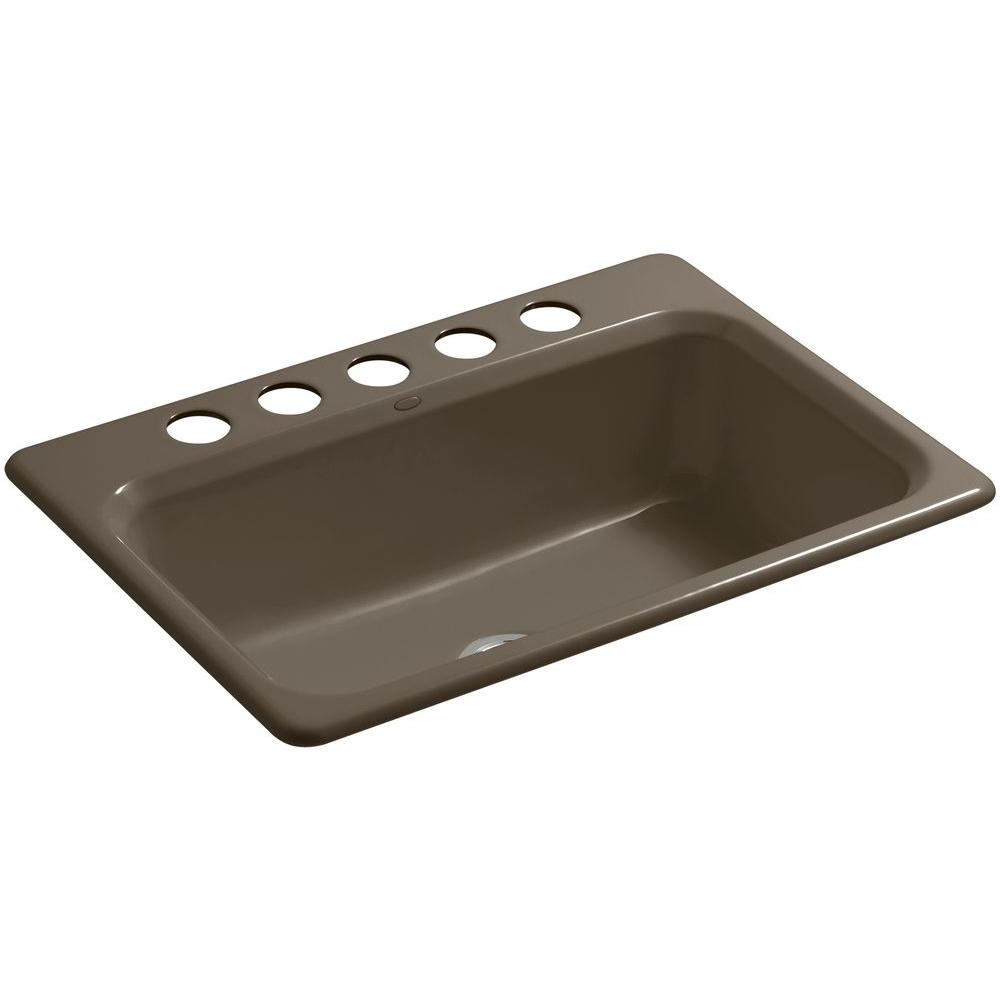 cast iron kitchen sinks undermount kohler bakersfield undermount cast iron 31 in 5 8066