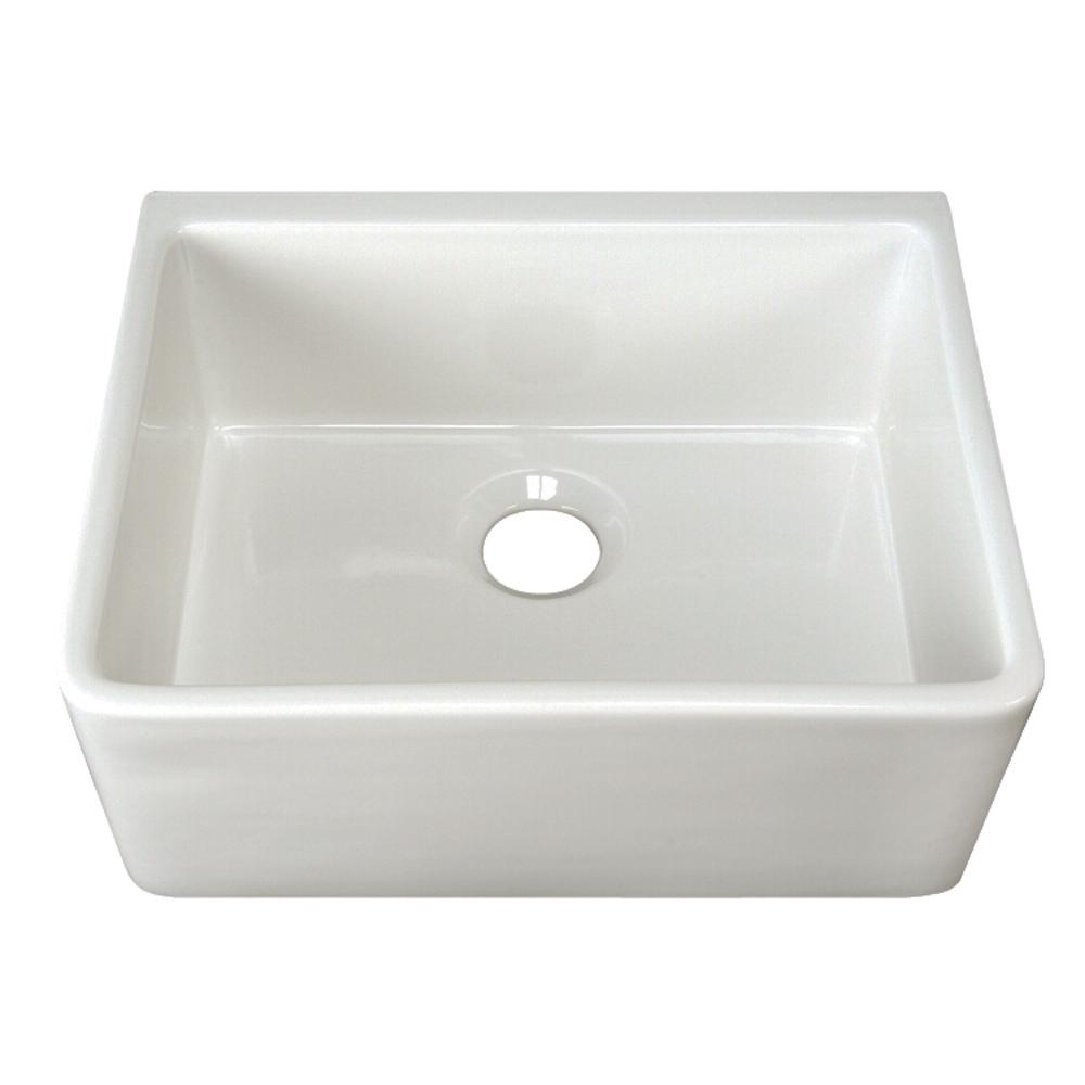 Brooke Apron Front Fireclay 23 in. Single Bowl Kitchen Sink in