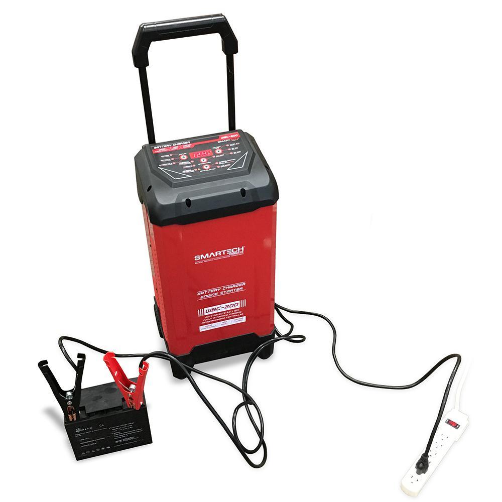Smartech Products WBC-200 6-Volt/12-Volt Wheel Automotive Battery Charger