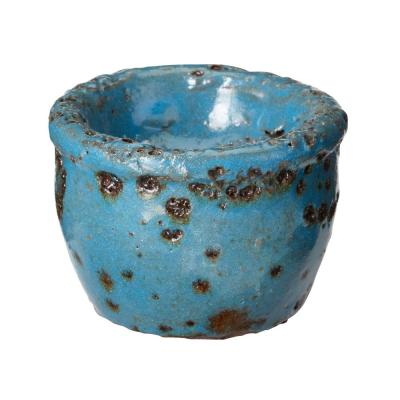 2 in. Rustic Ocean Earthenware Tea Light Candle Holder