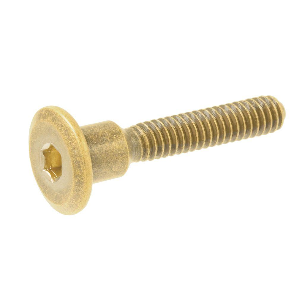 1/4 in. x 50 mm Brass Wide Connecting Bolt (4-Pack)
