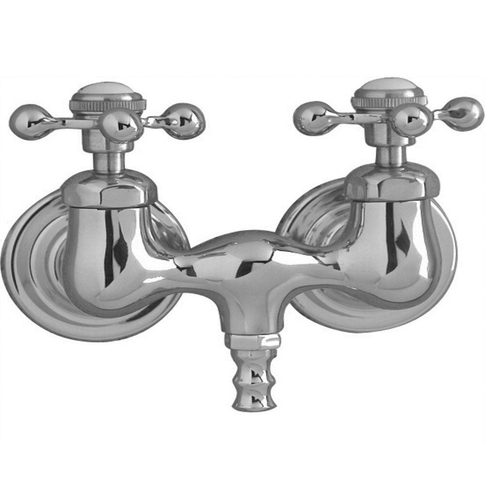 Pegasus 2-Handle Claw Foot Tub Faucet without Hand Shower with Old Style Spigot in Polished Chrome