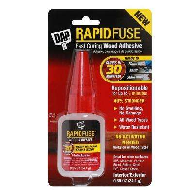 Rapidfuse 0.85 oz. Clear Wood Adhesive (6-Pack)