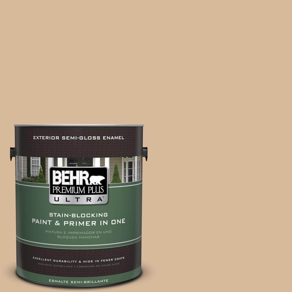 BEHR Premium Plus Ultra 1-gal. #S260-3 Dusty Gold Semi-Gloss Enamel Exterior Paint
