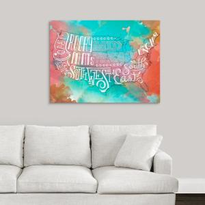 Pleasant Regional Type Watercolor By Sd Graphics Studio Canvas Wall Art Short Links Chair Design For Home Short Linksinfo