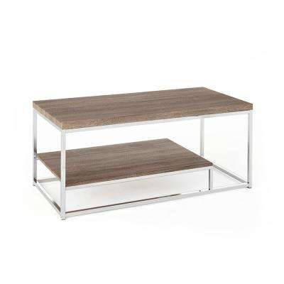 Lucia Grey Cocktail Table With Chrome Base