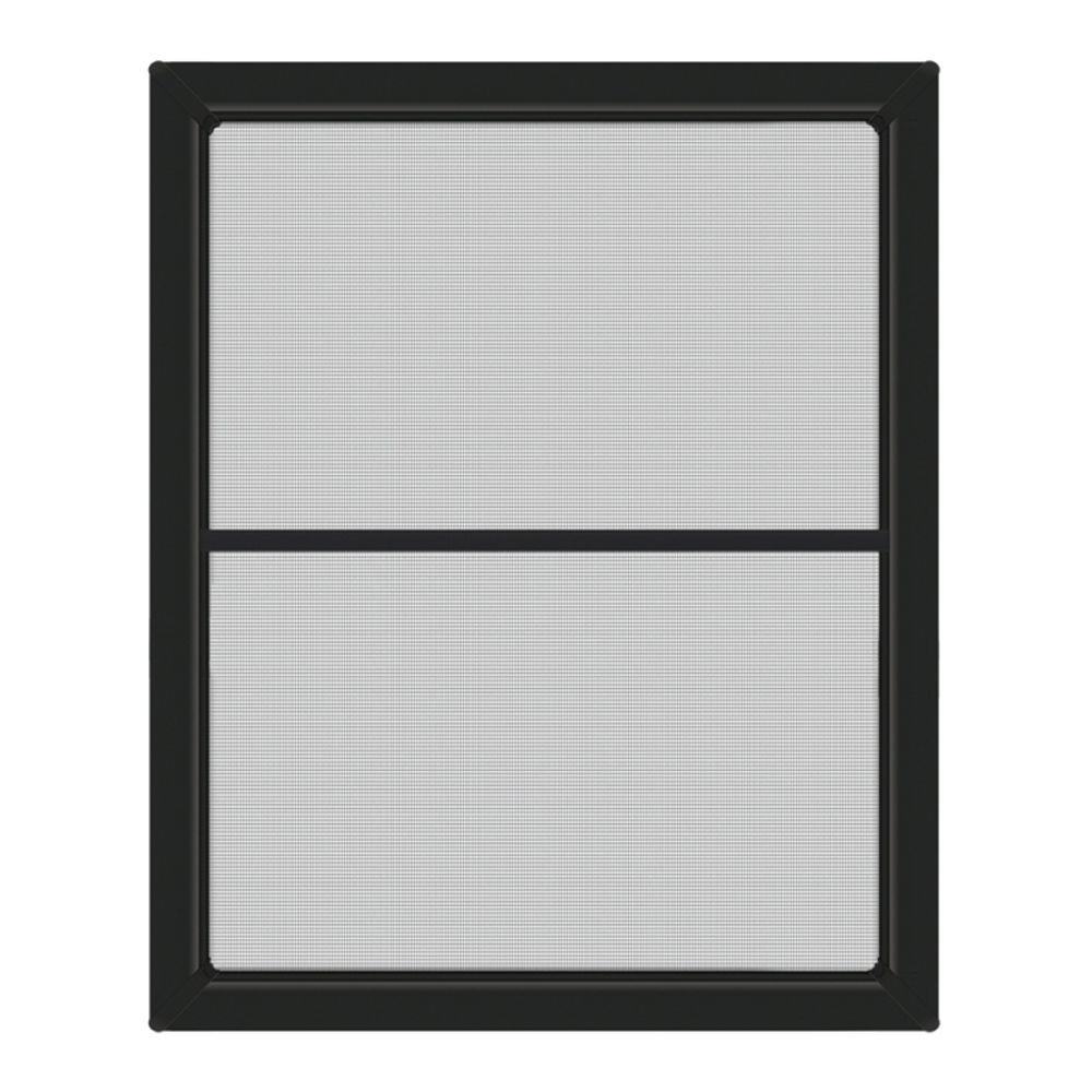 JELD-WEN 23.375 in. x 40.5 in. Bronze Aluminum Framed Window Screen ...