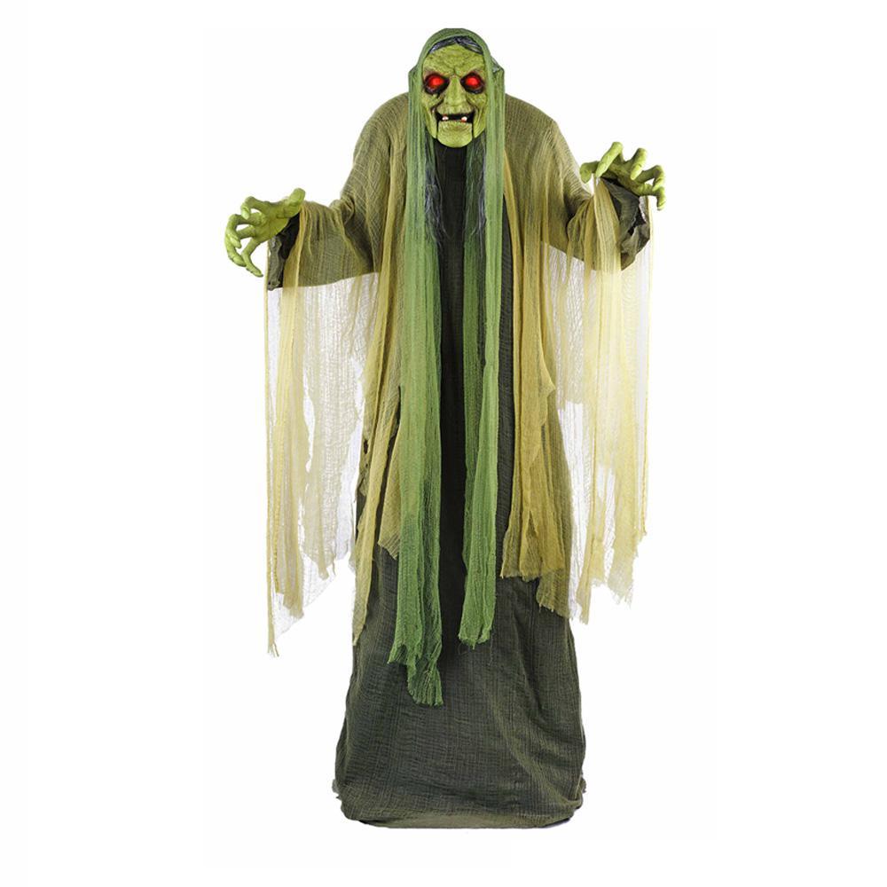 swamp witch animated led illuminated eyes halloween decor haunted