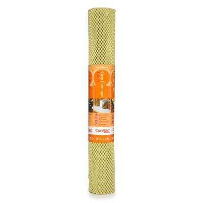 Grip Premium 20 in. x 4 ft. Lemongrass Non-Adhesive Thick Grip Drawer and Shelf Liner (6 Rolls)