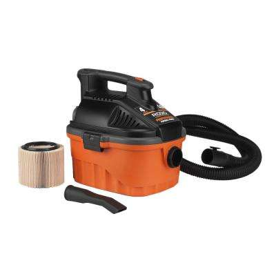 4 Gal. 5.0-Peak HP Portable Wet Dry Vac